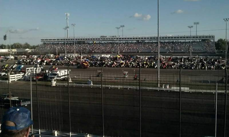 Seating view for Knoxville Raceway Section ww Row 11 Seat 1