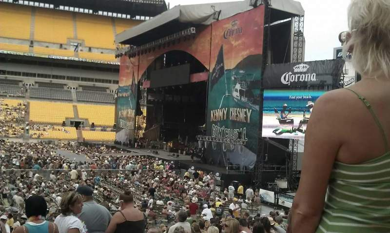Seating view for Heinz Field Section 134 Row y Seat 3