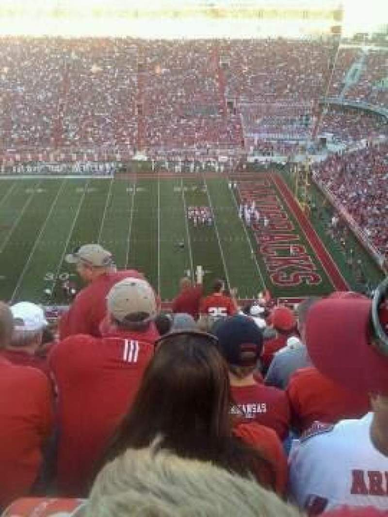 Seating view for Razorback Stadium Section 502