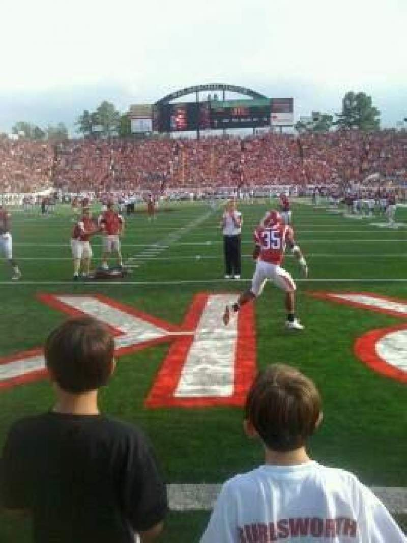 Seating view for Razorback Stadium Section Field