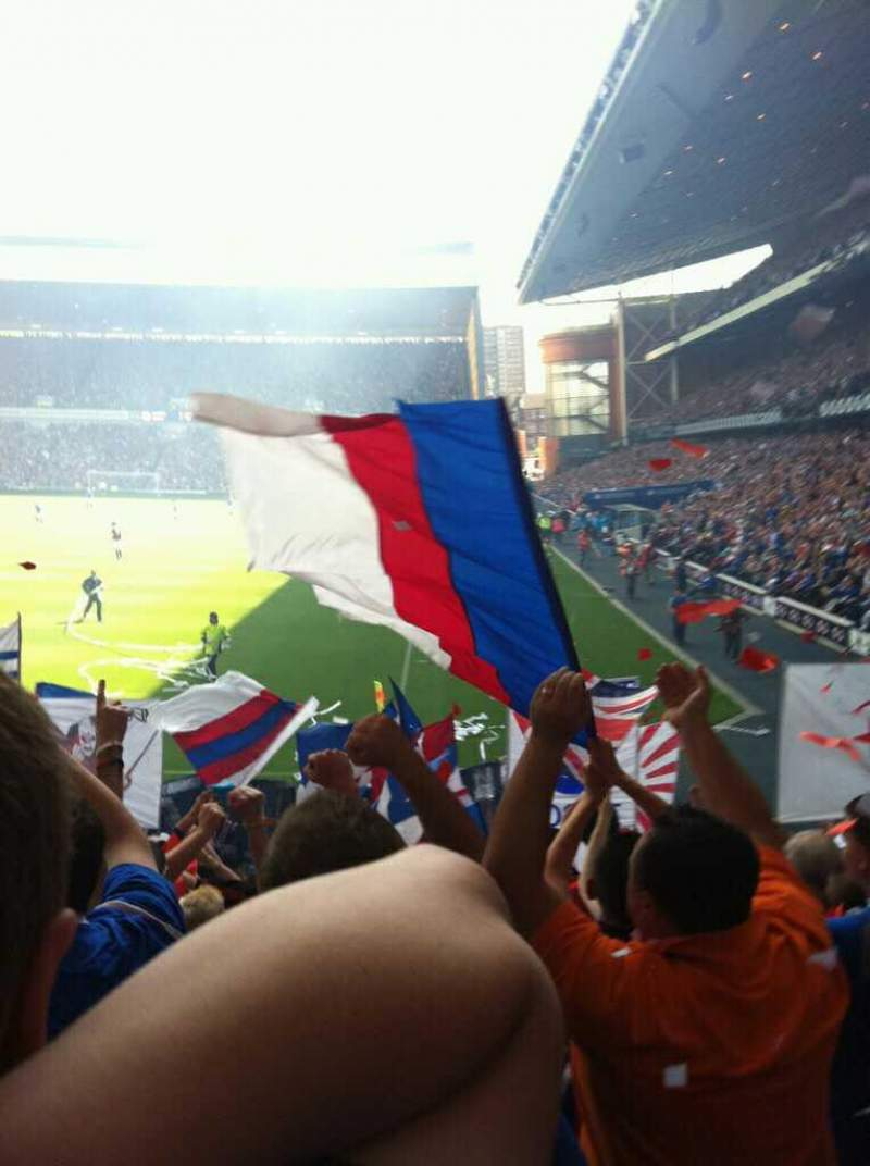 Seating view for Ibrox Stadium Section BF1 Row P Seat 7