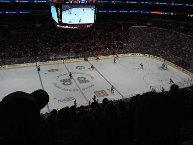 Seating view for Wells Fargo Center Section 224 Row 7 Seat 6