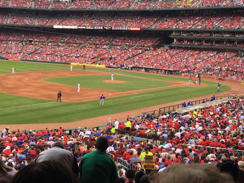 Seating view for Busch Stadium Section 162 Row 27 Seat 13