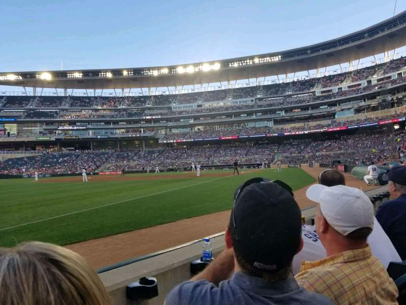 Seating view for Target Field Section 125 Row 2 Seat 20