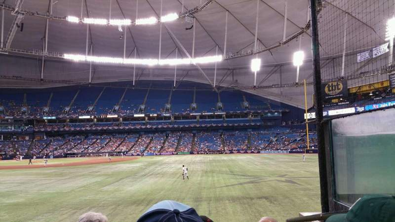 Seating view for Tropicana Field Section 150 Row W Seat 8
