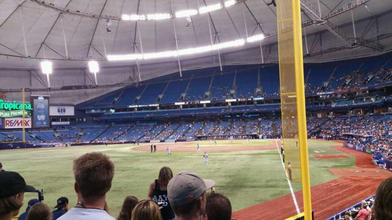Seating view for Tropicana Field Section 139 Row Z Seat 7