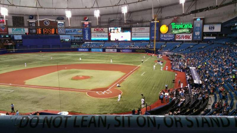 Seating view for Tropicana Field Section 203 Row A Seat 6