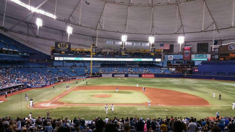 Seating view for Tropicana Field Section Rays Club 114 Row RR Seat 4