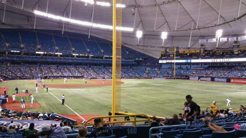 Seating view for Tropicana Field Section 138 Row jj Seat 20