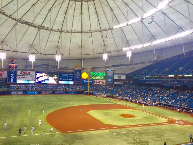 Seating view for Tropicana Field Section 215 Row B Seat 24