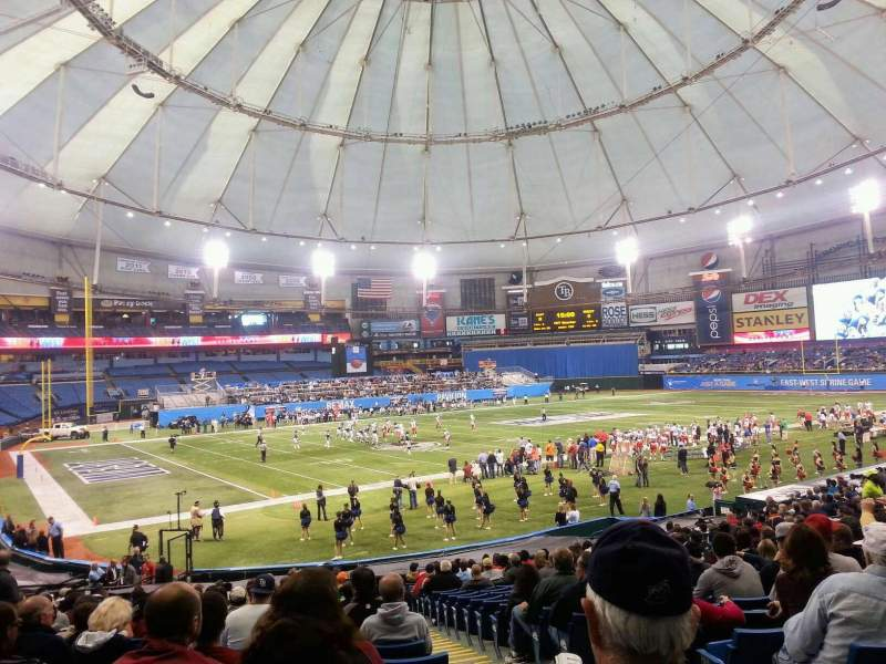 Seating view for Tropicana Field Section 104