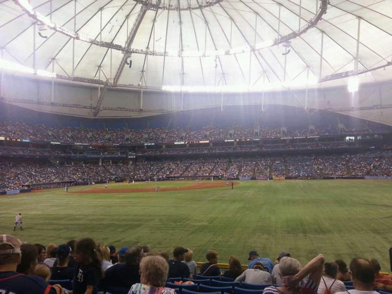 Seating view for Tropicana Field Section 148 Row DD Seat 19
