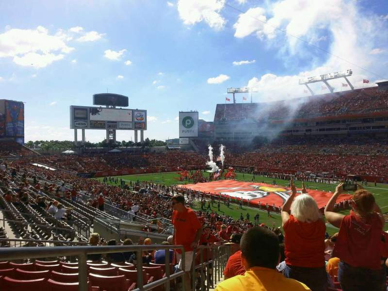 Seating view for Raymond James Stadium Section 243 Row T Seat 1