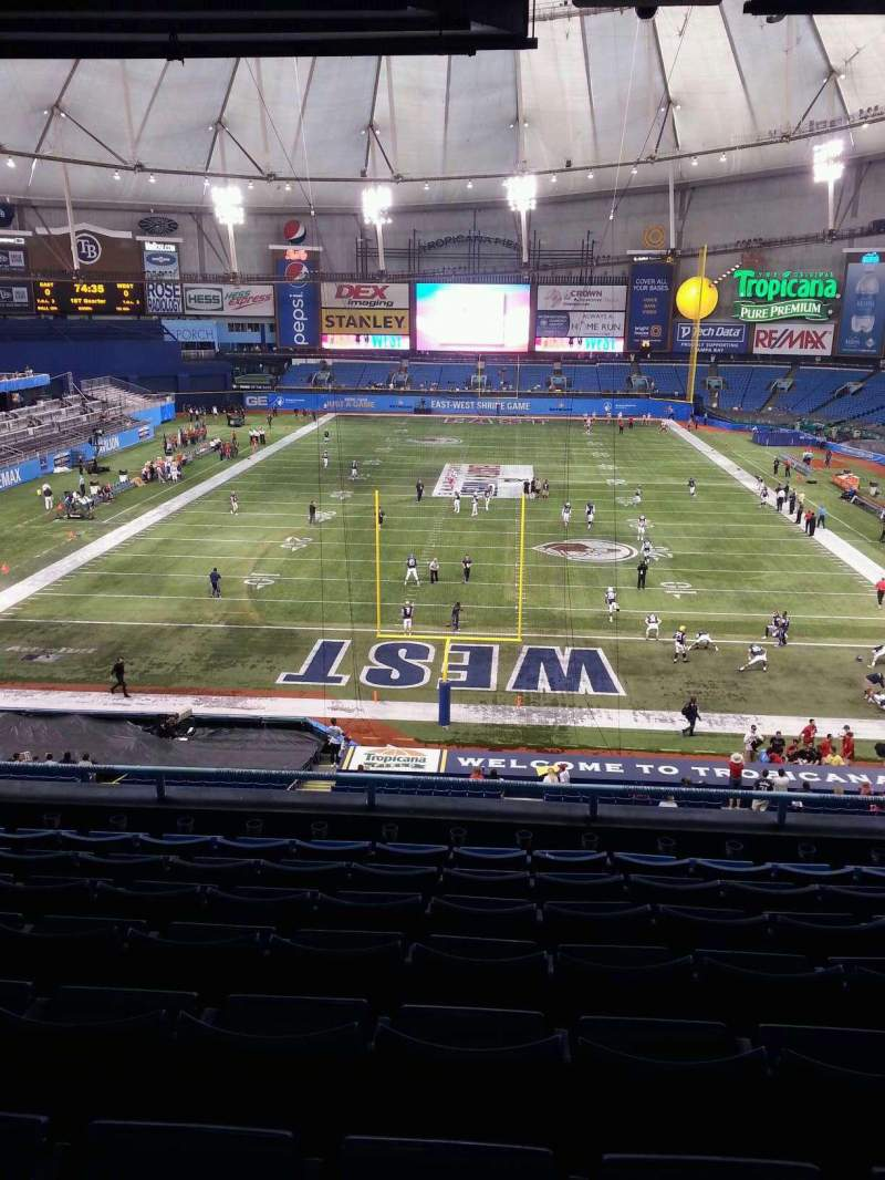 Seating view for Tropicana Field Section Suite 23