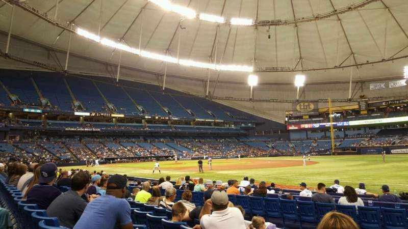 Seating view for Tropicana Field Section 130 Row M Seat 3