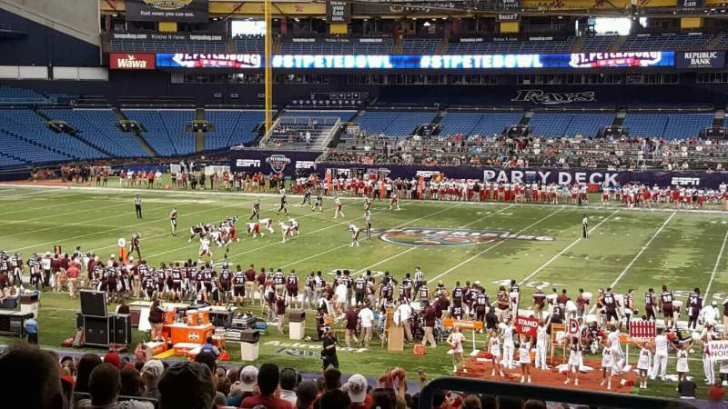Seating view for Tropicana Field Section 128 Row TT Seat 10