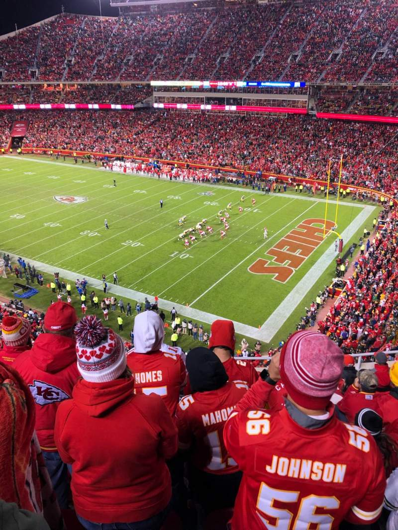 Seating view for Arrowhead Stadium Section 341 Row 9 Seat 9