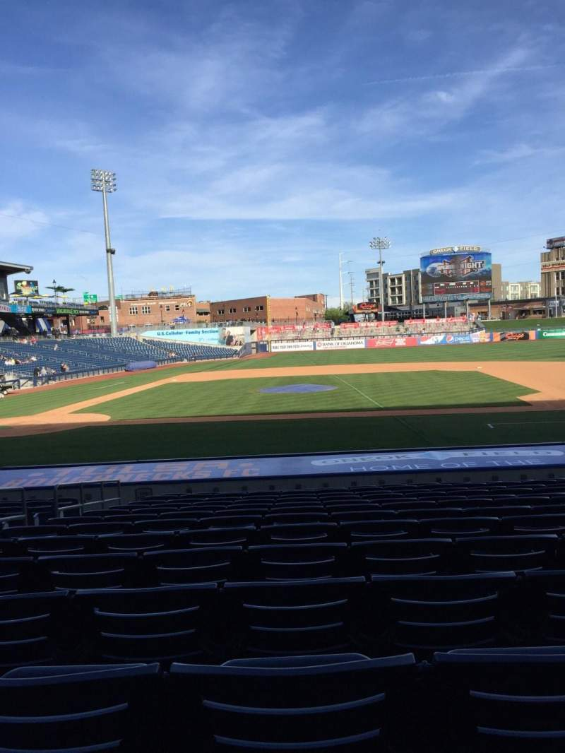 Seating view for ONEOK Field Section 105 Row T Seat 12