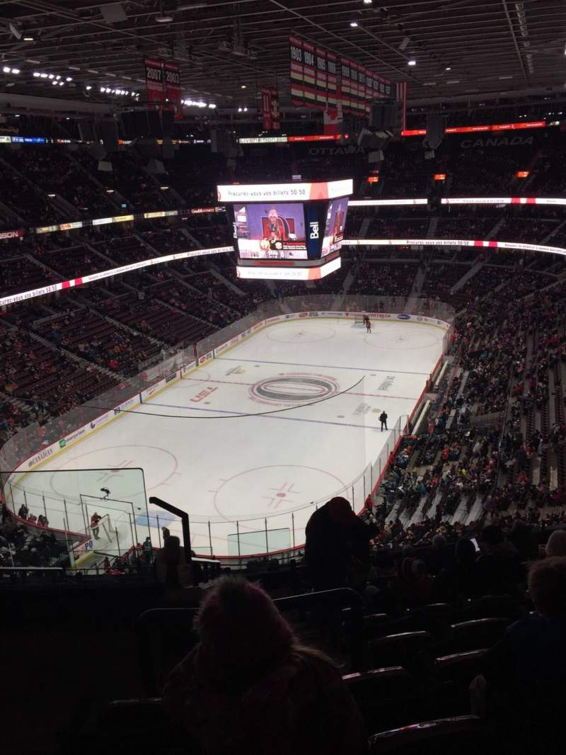 Canadian Tire Centre, section: 313, row: L, seat: 21