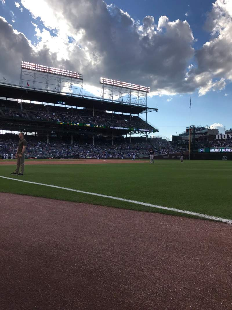 Seating view for Wrigley Field Section 30 Row 2 Seat 7