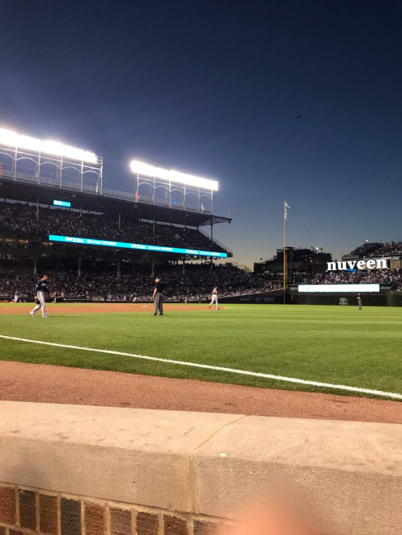 Seating view for Wrigley Field Section 30 Row 2 Seat 5