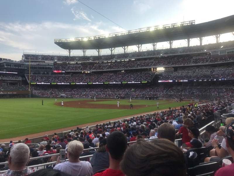 Seating view for SunTrust Park Section 140 Row 4 Seat 14