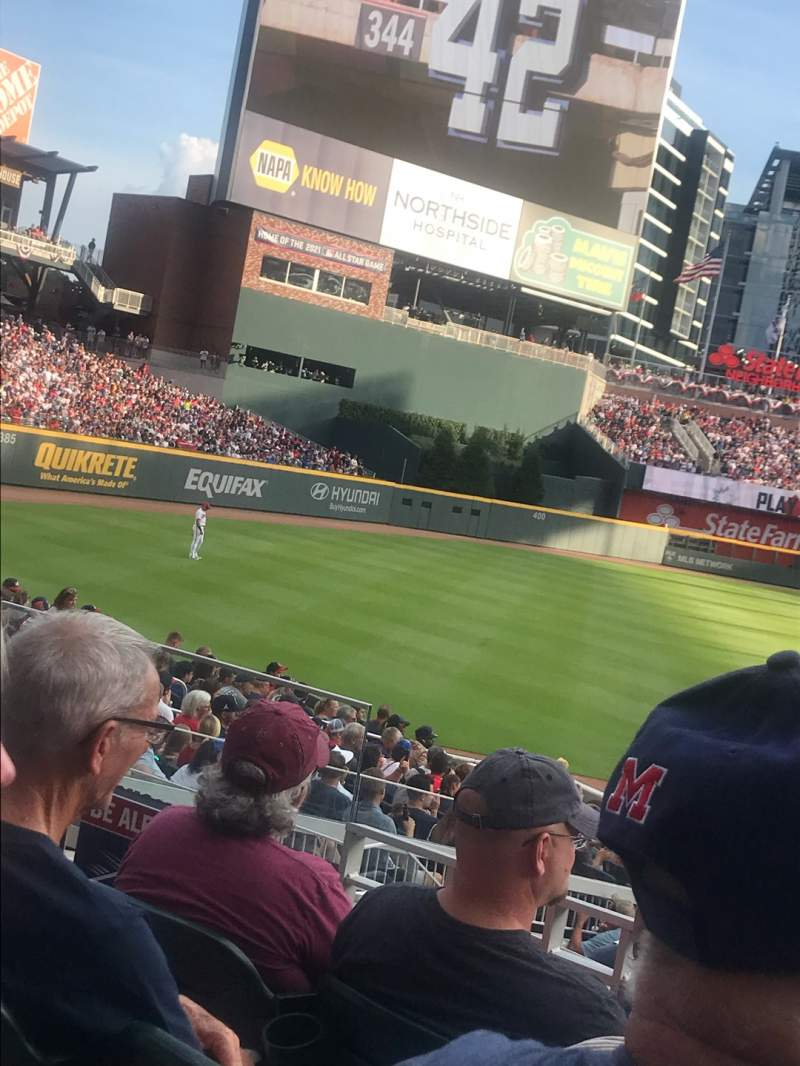 Seating view for SunTrust Park Section 140 Row 4 Seat 15