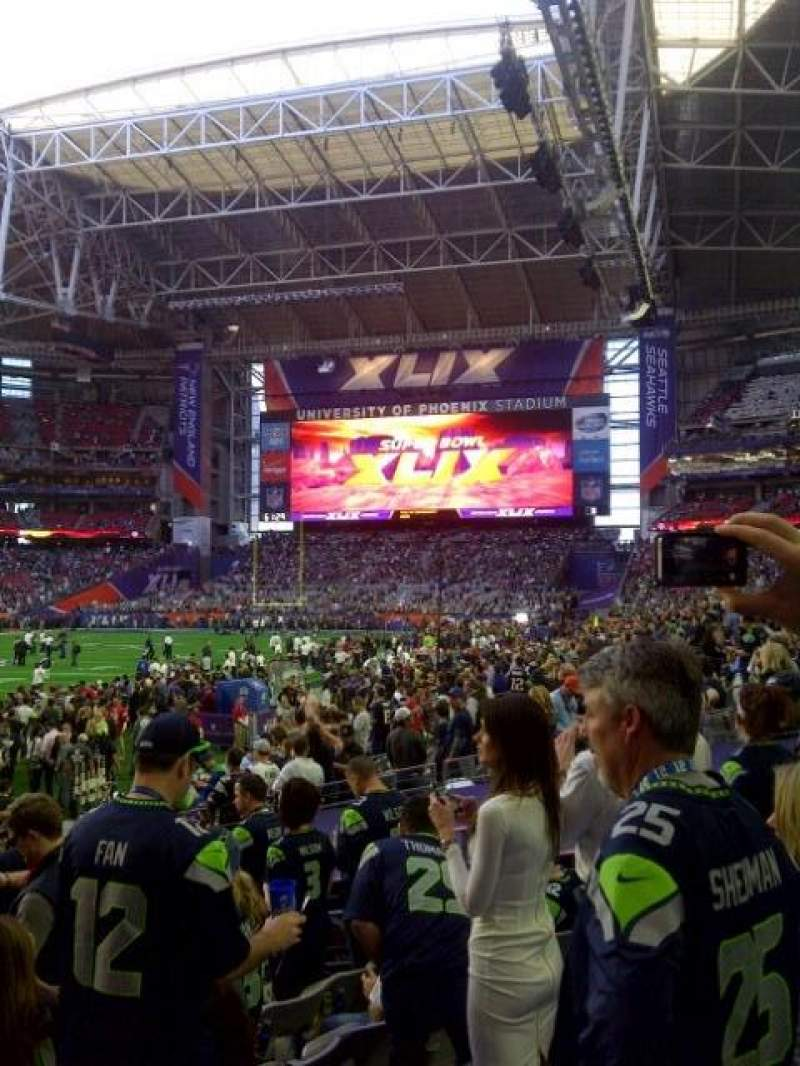 Seating view for University of Phoenix Stadium Section 113 Row 10 Seat 5