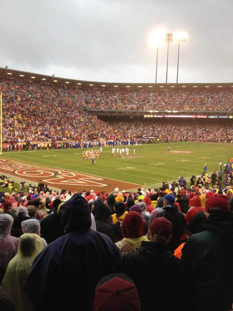 Seating view for Candlestick Park Section 28 Row 26 Seat 16