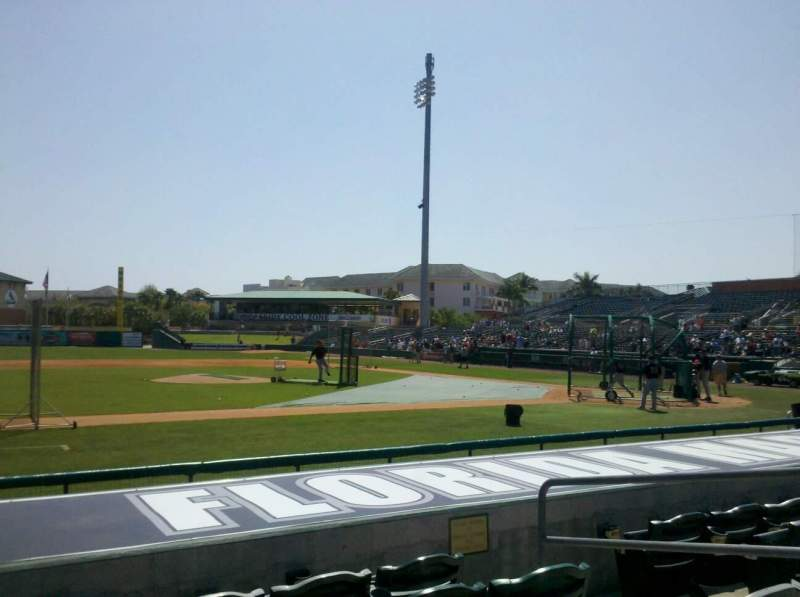 Seating view for Roger Dean Stadium Section 119 Row 5 Seat 5