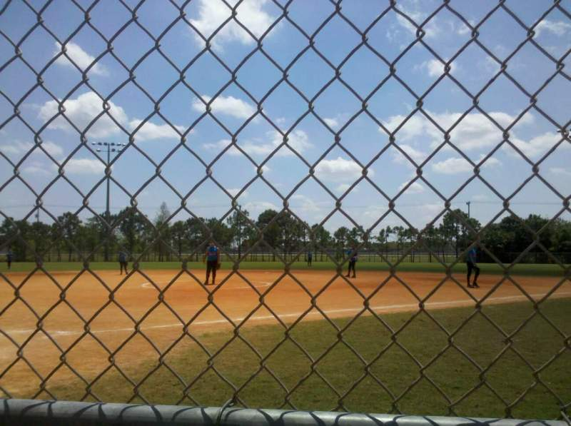 Seating view for West  Boca Softball Section 1 Row 1 Seat 1