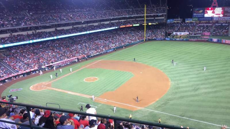 Seating view for Angel Stadium Section V530 Row B Seat 21