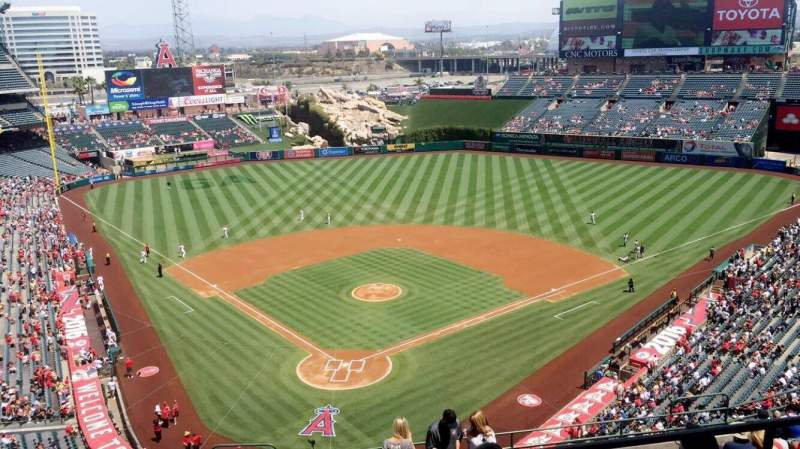 Seating view for Angel Stadium Section 522 Row B Seat 10