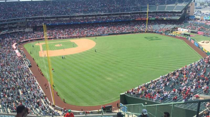 Seating view for Angel Stadium Section V540 Row N Seat 4