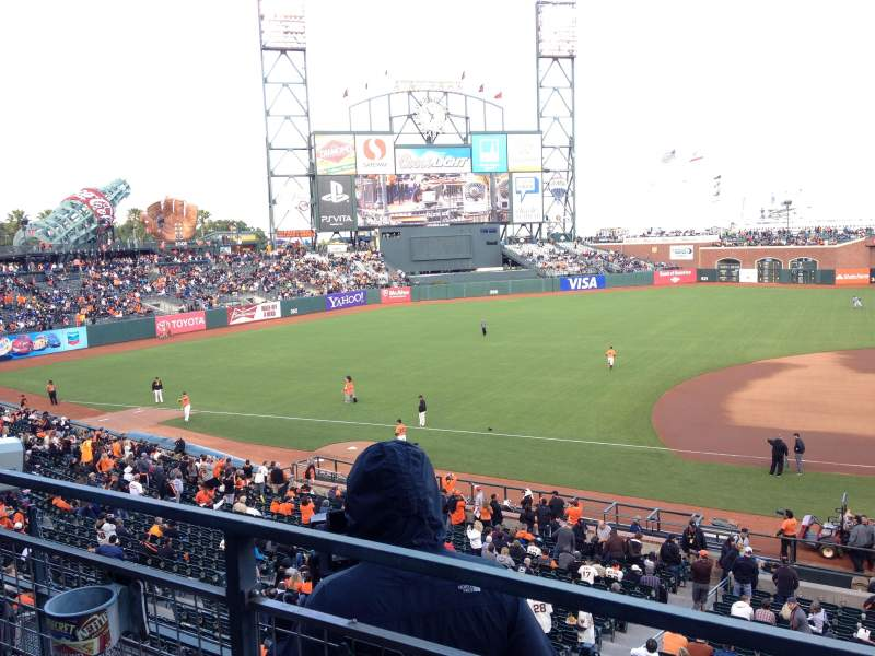 Seating view for AT&T Park Section 223 Row A Seat 11