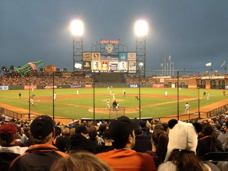 Seating view for AT&T Park Section 116 Row 23 Seat 1