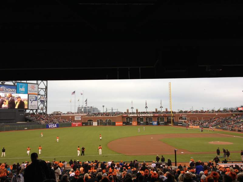 Seating view for AT&T Park Section LB 125 Row 38 Seat 3