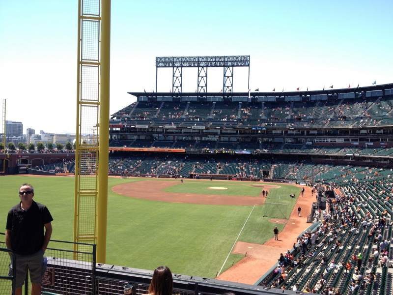 Seating view for AT&T Park Section 234 Row E Seat 11