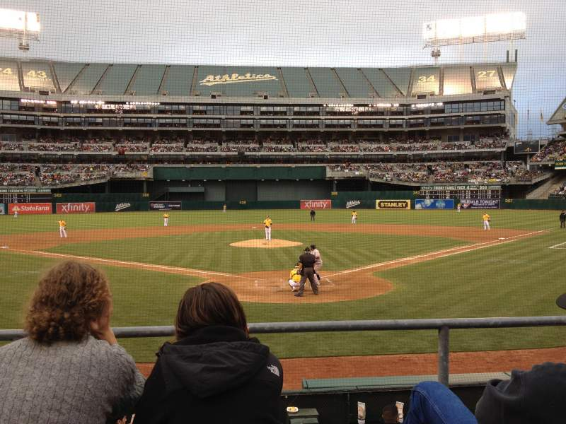 Seating view for Oakland Alameda Coliseum Section MVP Box 117 Row 15 Seat 13