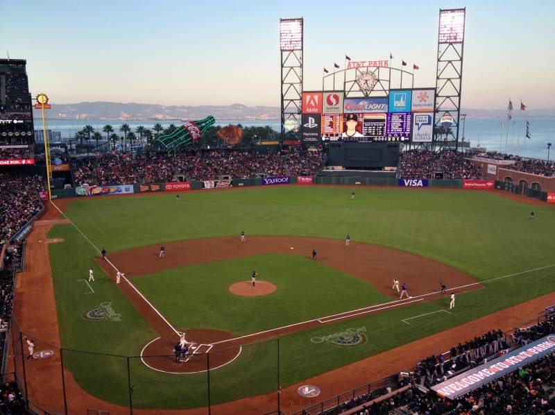 Seating view for AT&T Park Section 313 Row A Seat 2