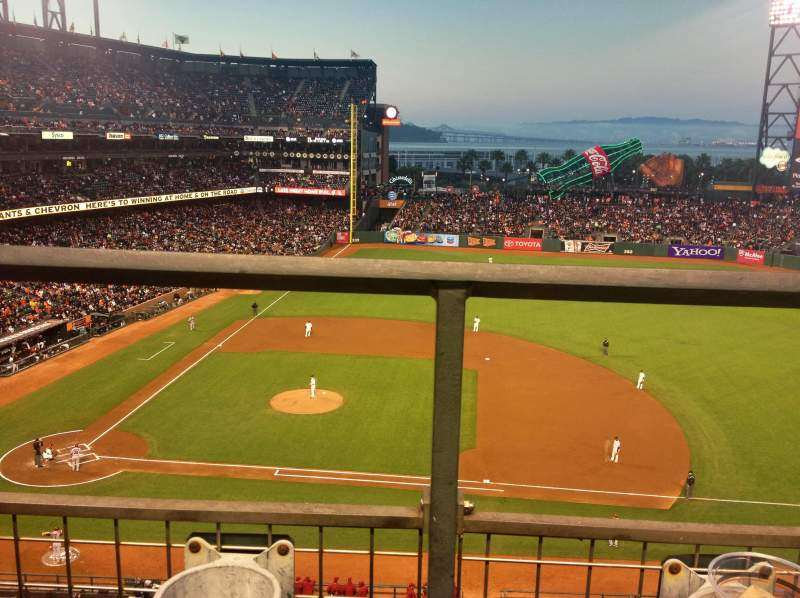 Seating view for AT&T Park Section VB 108 Row A Seat 2