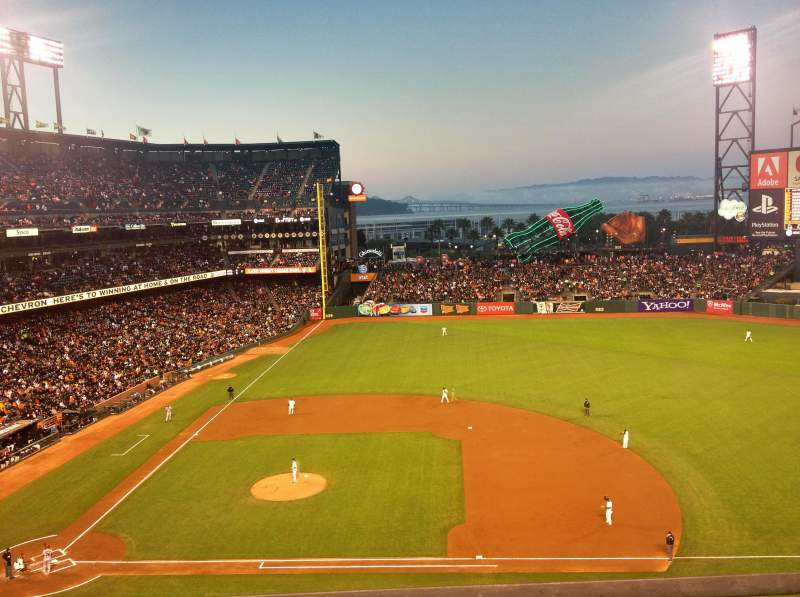Seating view for AT&T Park Section VB 308 Row A Seat 2