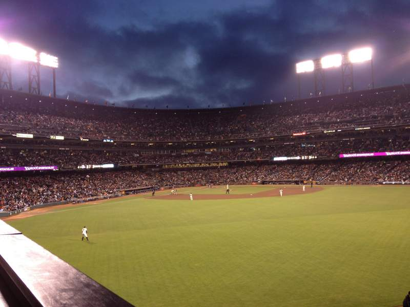 Seating view for AT&T Park Section COORS SB Row CL Seat 8