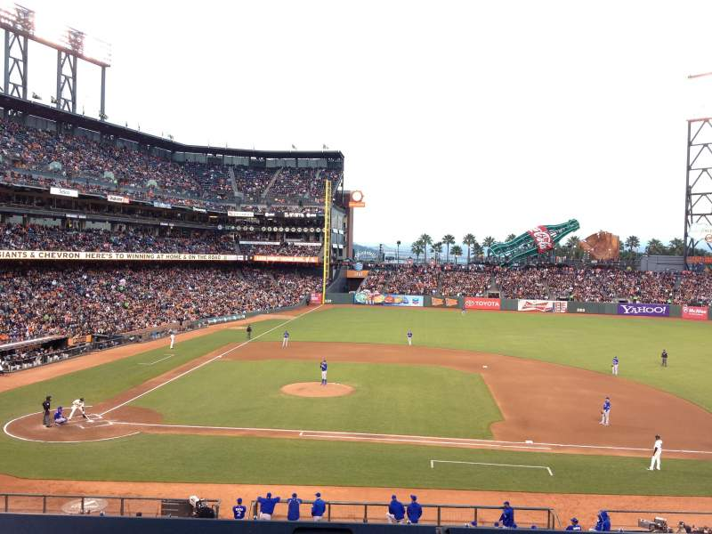 Seating view for AT&T Park Section 209 Row A Seat 5