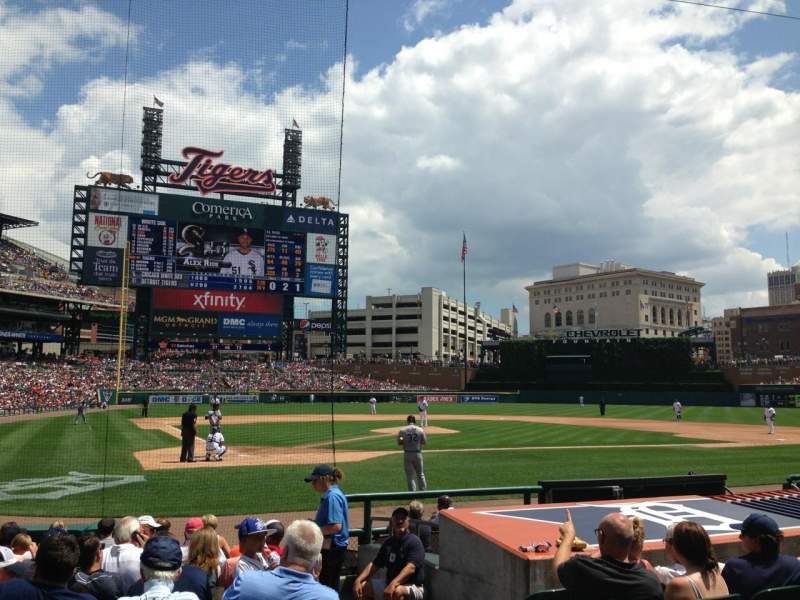 Seating view for Comerica Park Section 125 Row 13 Seat 1