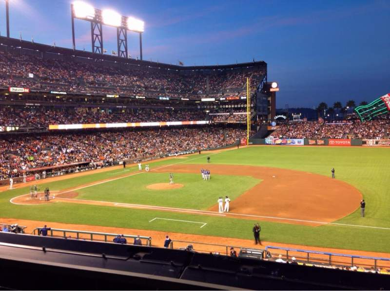 Seating view for AT&T Park Section 207 Row A Seat 2