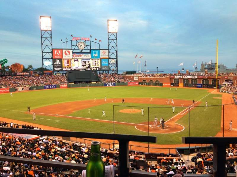 Seating view for AT&T Park Section 218 Row A Seat 6
