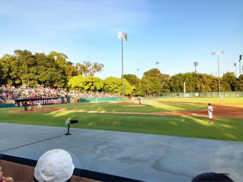 Seating view for Sunken Diamond Section 1 Row F Seat 1