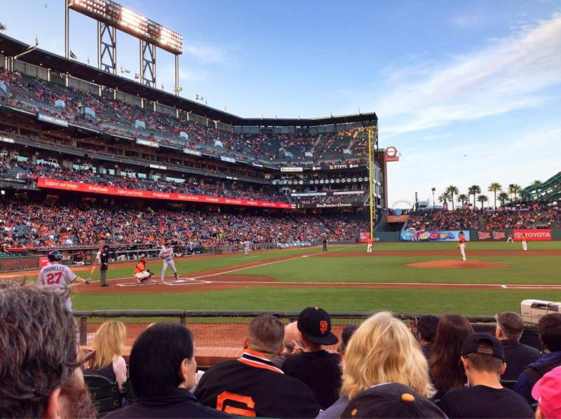 Seating view for AT&T Park Section 109 Row C Seat 15