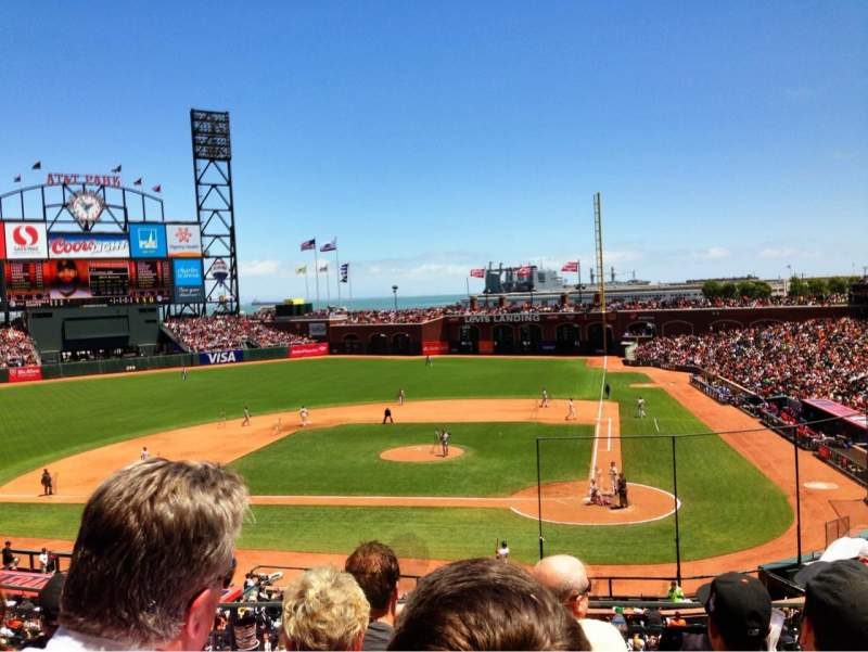 Seating view for AT&T Park Section 220 Row D Seat 2